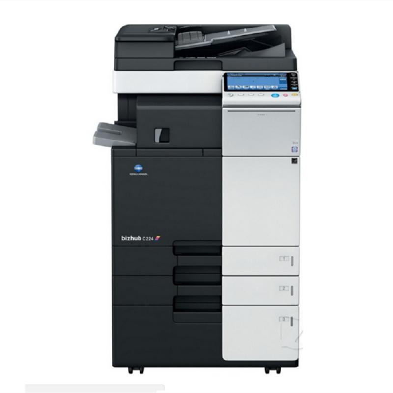 柯尼卡美能达C224彩色复印打印机租赁